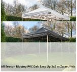 Grizzly-Outdoor easy-up vouwtent All Season Ribstop PVC Dak Easy Up 3x6 zwart