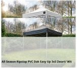 Grizzly-Outdoor easy-up All Season Ribstop PVC Doek 3x3 meter zwart