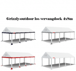 grizzly-outdoor 2.2 professional los vervang dak 4x8 m