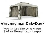 vervangingsdak 3x4 meter Grizzly Europe