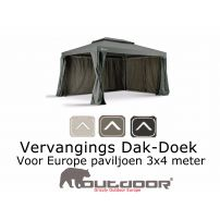 Vervangdoek paviljoen 3x4 grizzly Outdoor