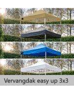 Grizzly-outdoor easy-up 3x3 vervangdoek 600d